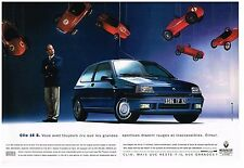 Publicité Advertising 1992 (2 pages) Renault Clio 16 S