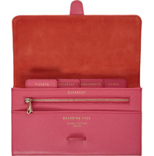 BN Aspinal of London Authentic Pink Travel Wallet RRP £135