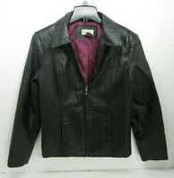 Women's Kim Rogers Leather Jacket Black Size S