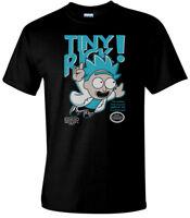 Rick And Morty Funny T-Shirts TINY RICK! Flying Mashup Parody Mens Comedy Tee