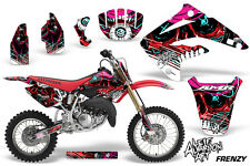 Graphics Kit MX Decal Wrap + # Plates For Honda CR85 CR 85 2003-2007 FRENZY RED