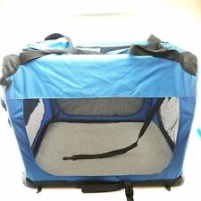 """GoPetClub 28"""" Inch Soft Portable Foldable Travel Pet (Dog) Carrier, Blue"""