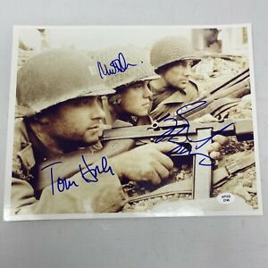 Tom Hanks Matt Damon signed 8x10 Photo Pic autographed Saving Private Ryan