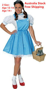 Dorothy Inspired Girl Woman Costume Book Week Character Teen Adult Party Dress