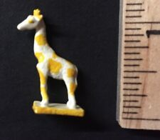 Vintage Giraffe Figurine  Metal Dollhouse Toy Miniature Hand Painted