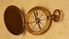 Antique Waltham Compass Brass WWI WWII US