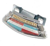 Lambretta Li Series 2 & 3 Chrome Horncast Badge & Clip Innocenti @UK