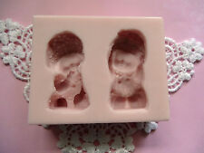 Twins Babies silicone mold fondant cake decorating APPROVED FOR FOOD
