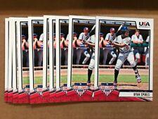 Lot of (10) RYAN SPIKES 2019 Panini Stars & Stripes USA Baseball cards QTY