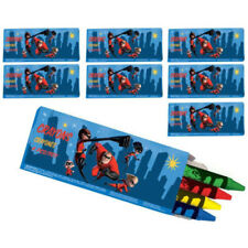 INCREDIBLES 2 4-PACK MINI CRAYONS (8) ~ Birthday Party Supplies Favor Stationery