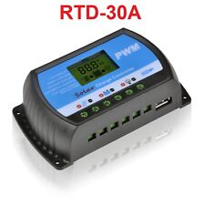 30A Solar Charge Controller 12V 24V LCD Display USB 5V Panel Charge Regulator