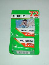 2 FILM PELLICULE 135/36 FUJI 200 couleur périmé 2009 LO FI  photo LOMOGRAPHIE