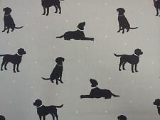 "Clarke and Clarke Rover Linen Dogs Fabric 137cm/54"" wide"