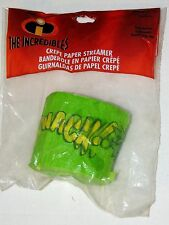 NEW ~~THE INCREDIBLES~~ 1-10yds CREPE PAPER STREAMER PARTY SUPPLIES