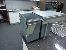 kitchen pull out dual bin 2x 20L bins heavy duty runners door mount cabinet
