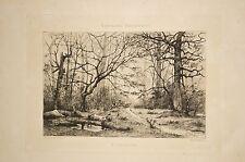 Gravure de Tanguy Paysage A Clisson publiée par la Bretagne Artistique 19°S