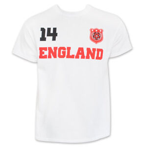 England World Cup Soccer No. 14 T-Shirt White