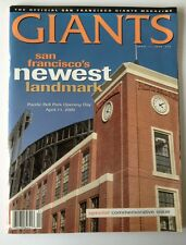 San Francisco Giants vs Dodgers Opening Day Program At Pac Bell Park 4/11/2000