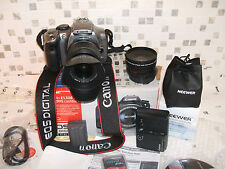 CANON EOS 300D KIT WITH THREE LENSES