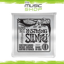 New Set of Ernie Ball 2625 8 String Slinky Electric Guitar Strings - 10-74