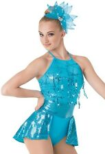 New Competition Twirling Ballroom Dance Dress Baton Ice Skating Costume