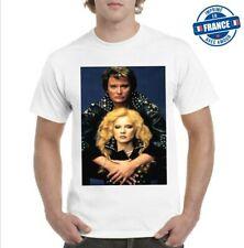 Tee-shirt Johnny Hallyday Sylvie Vartan rock tendance 2021