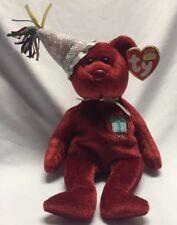 TY Retired Beanie Baby July Birthday Bear 2002 Ty w/ tags