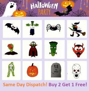 Halloween Temporary Tattoos Pinata Loot Party Bag Fillers Kids Trick or Treat UK