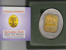 TRIBES OF ISRAEL Zebulun by SALVADOR DALI 105g PURE SILVER OVAL STATE ART MEDAL