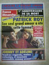 AFFICHE PROMO FRANCE DIMANCHE JOHNNY HALLYDAY ROY