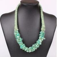 Pendant Natural Stone Choker Chunky Statement Chain Bib Necklace Jewelry Women