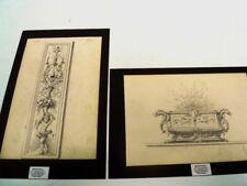 "MINON Arthur - ""DECORATION /ARCHITECTURE"" 2 DESSINS MINE DE PLOMB - 1880 - MIN 2"