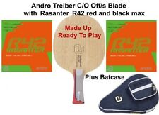 Table Tennis Bat: Andro Treiber C/O Off/s Blade with Rasanter R42 Rubbers + Case