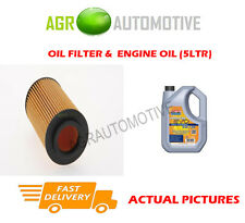 DIESEL OIL FILTER + LL 5W30 ENGINE OIL FOR VAUXHALL VECTRA 2.0 82 BHP 1996-00