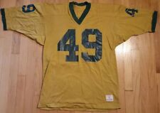 Vintage 80s CHAMPION football jersey L gold green yellow #49 retro old school