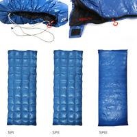 Outdoor Sleeping Bag White Duck Down Filling Camping Envelope Type Lightweight