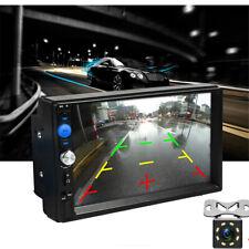 "7"" Car Double 2DIN Radio MP5 Player Blueteeth FM/TF/USB w/ LED Reverse Camera"