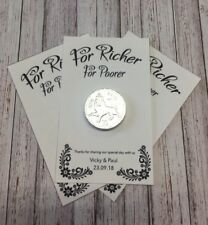 10 X Personalised Wedding Favours. Coin Favour. Chocolate Coin Favour