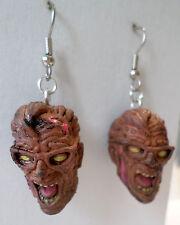 Walking Dead-like Zombie Planet  Dead Zone Dave Dangle Earrings Horror Heads