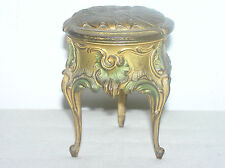 ANTIQUE LINED FRENCH  JEWELRY BOX.