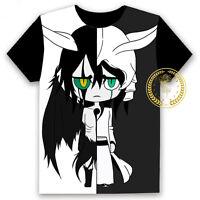 Anime BLEACH Ulquiorra cifer Unisex T-shirt HD Printing Cosplay Tee Tops#8-OS46