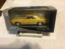 Welly-1-24-1965-Pontiac-GTO-Diecast-Butternut-Yellow-Color-Super-Detail
