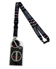 Marvel Deadpool X-Force Lanyard w/ Sticker ID Badge Holder & Charm New Official