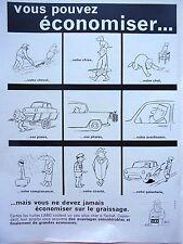 page  de publicité    HUILE  LABO par CHAVAL     en 1963  N° 46794