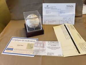 JOHNNY BENCH SIGNED AUTOGRAPHED  GOLD GLOVE BASEBALL WITH CERTIFICATE