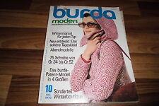 BURDA MODEN # 10 / 1970 -- WINTERMÄNTEL für JEDEN TYP /ABENDMODELLE/ 75 Schnitte
