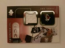 2001-02 UPPER DECK ICE 1ST ROUNDERS GAME-USED JERSEY SP JOE SAKIC CARD#F-JS