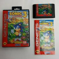 Sonic The Hedgehog 3 Sega Genesis - COMPLETE CIB with Manual, Case, Cartridge