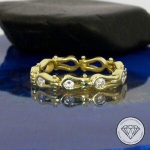 Wert 1.450,- Einzigartiger 0,30 Carat Brillant Ketten RIng 585 / 14 Kt Gold xxyy