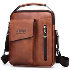 Men's Shoulder Bags Man Split Leather Crossbody Messenger Bag Business Tote Bags